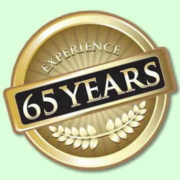 65 years plumbing experience badge